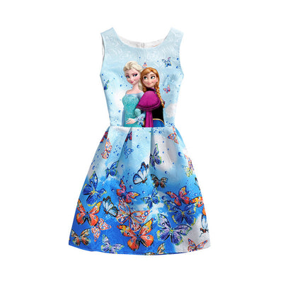 Butterfly Printed Formal Dress For Girls. - Blindly Shop