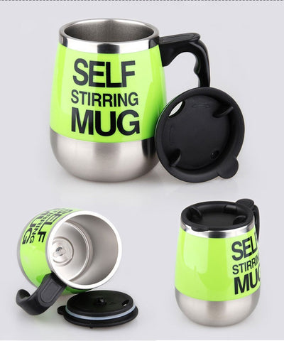 Automatic Coffee Mixing Cup with Lid Self Stirring Mug - Blindly Shop