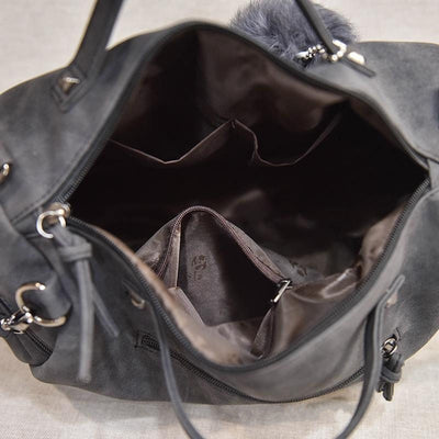 Vintage Nu buck Leather Female Top-handle Bag/Shoulder Bag - Blindly Shop