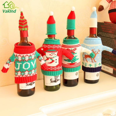 Christmas Wine Bottle Cover Bags - Blindly Shop