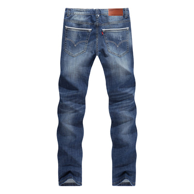 Men Casual/Business Straight Slim Fit Jeans - Blindly Shop