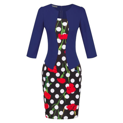 Pencil Dress Office Elegant Plus Size Black Red  Work Wear Women Clothing - Blindly Shop