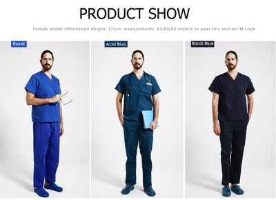 Woman&Man Short sleeve Medical Clothing scrubs set - Blindly Shop