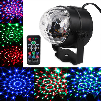 3W RGB Party Stage Light with remote control Music Sound Activated - Blindly Shop