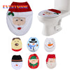 Snowman Santa Claus Toilet Seat Cover - Blindly Shop