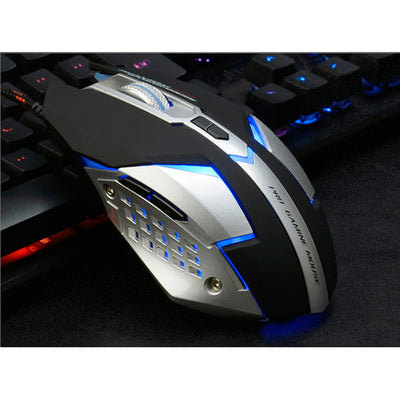 Premium Silent Click USB Wired Gaming Mouse 7 Buttons 3200DPI - Blindly Shop