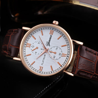 Retro Design Leather Watch For Men. - Blindly Shop