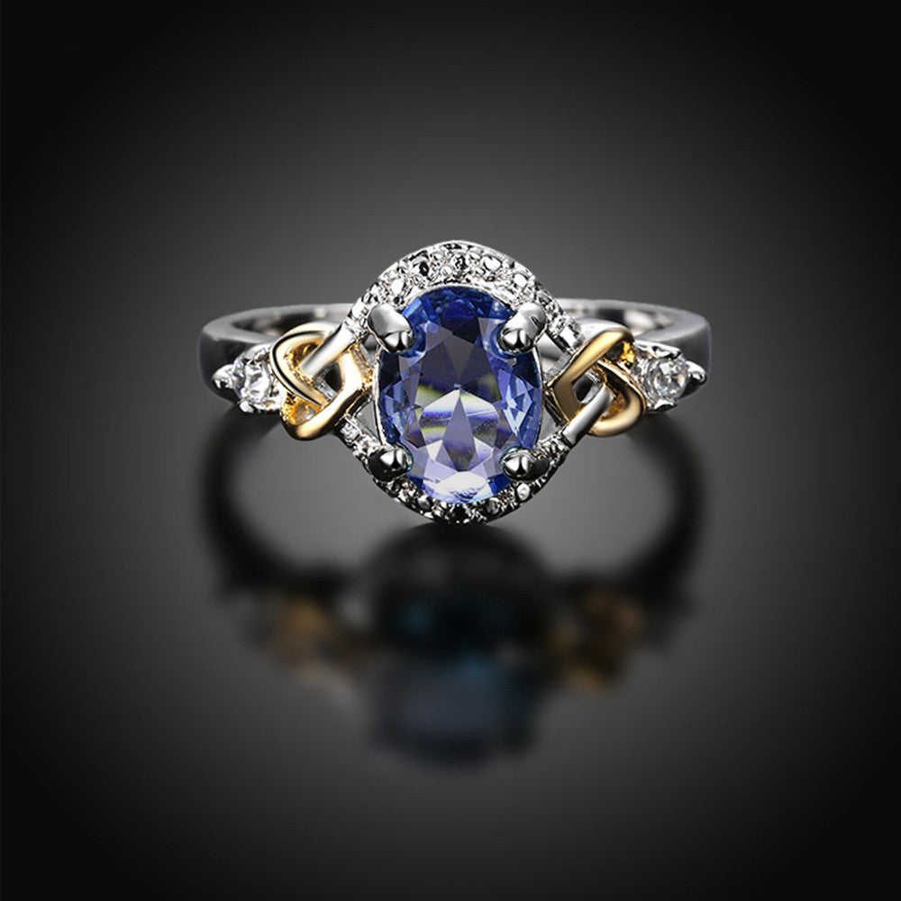 Alloy Engagement Ring with Crystal - Blindly Shop