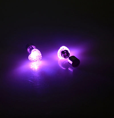 Dance Party Accessories Light Up LED Bling Ear Studs Earring - Blindly Shop