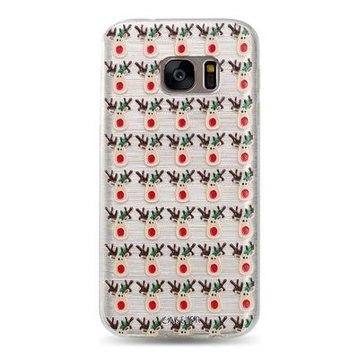 Christmas Winter Cute Snowman Phone Case For Samsung Galaxy S6 S7 Edge S8 Plus Note 8 - Blindly Shop