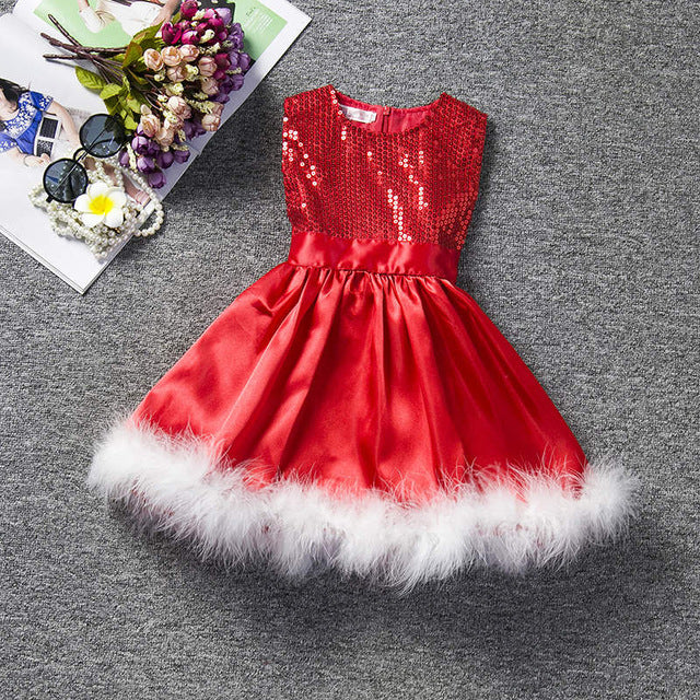 PREMIUM Winter red dress infant kids dresses for Christmas party baby  clothes Baptism Costume for Events bd6e11e3369b