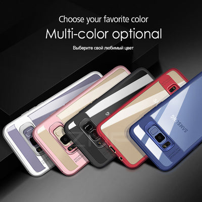 PREMIUM Silicone Phone Cases for Samsung Galaxy  S8 Plus Transparent PC & TPU Slim Case for Samsung S8 Plus S8 Cover Case - Blindly Shop