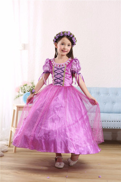 Spring and Summer Rapunzel Sofia girls dress princess dress tutu dresses - Blindly Shop