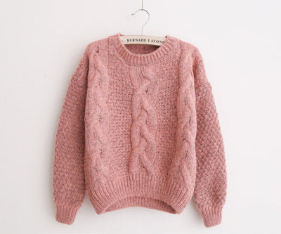 Women Sweaters Warm Pullover and Jumpers Crew neck Autumn Knitted Sweaters - Blindly Shop