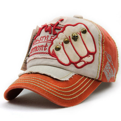 Baseball Cap Fashion Fist Pattern Hip Hop Rivets cap - Blindly Shop