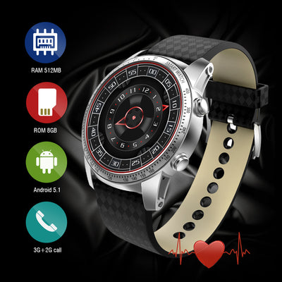 Android 5.1 Bluetooth 4.0 Sim Card supported Smart Watch(8GB) - Blindly Shop