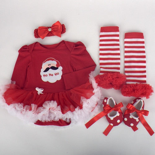 Christmas Outfits.Baby Costumes Infant Toddler Baby Girls First Christmas Outfits