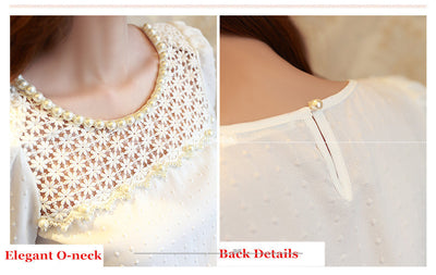 3D Lace Chiffon Blouse For Women. - Blindly Shop