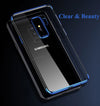 Luxury Soft  Silicone Clear Transparent Plating Cover For Samsung S9, S9 Plus - Blindly Shop