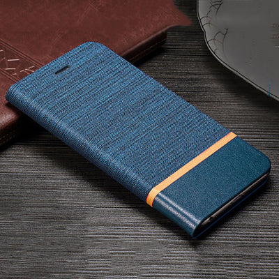 Matte Canvas Card Slot Stand Leather Flip Case for Huawei P20 Pro P20 Lite - Blindly Shop
