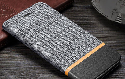 Matte Canvas Card Slot Stand Leather Flip Case for Huawei P20 Pro P20 Lite