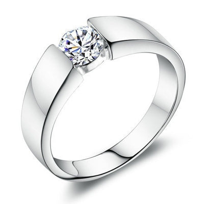 925 Sterling Silver Diamond style Ring - Blindly Shop