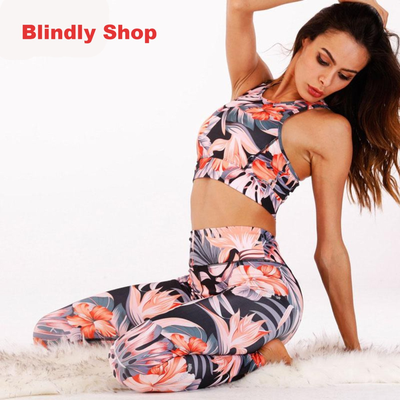 Women Yoga / Fitness /Sport/ Jogging/  Running 2 piece suit set - Blindly Shop