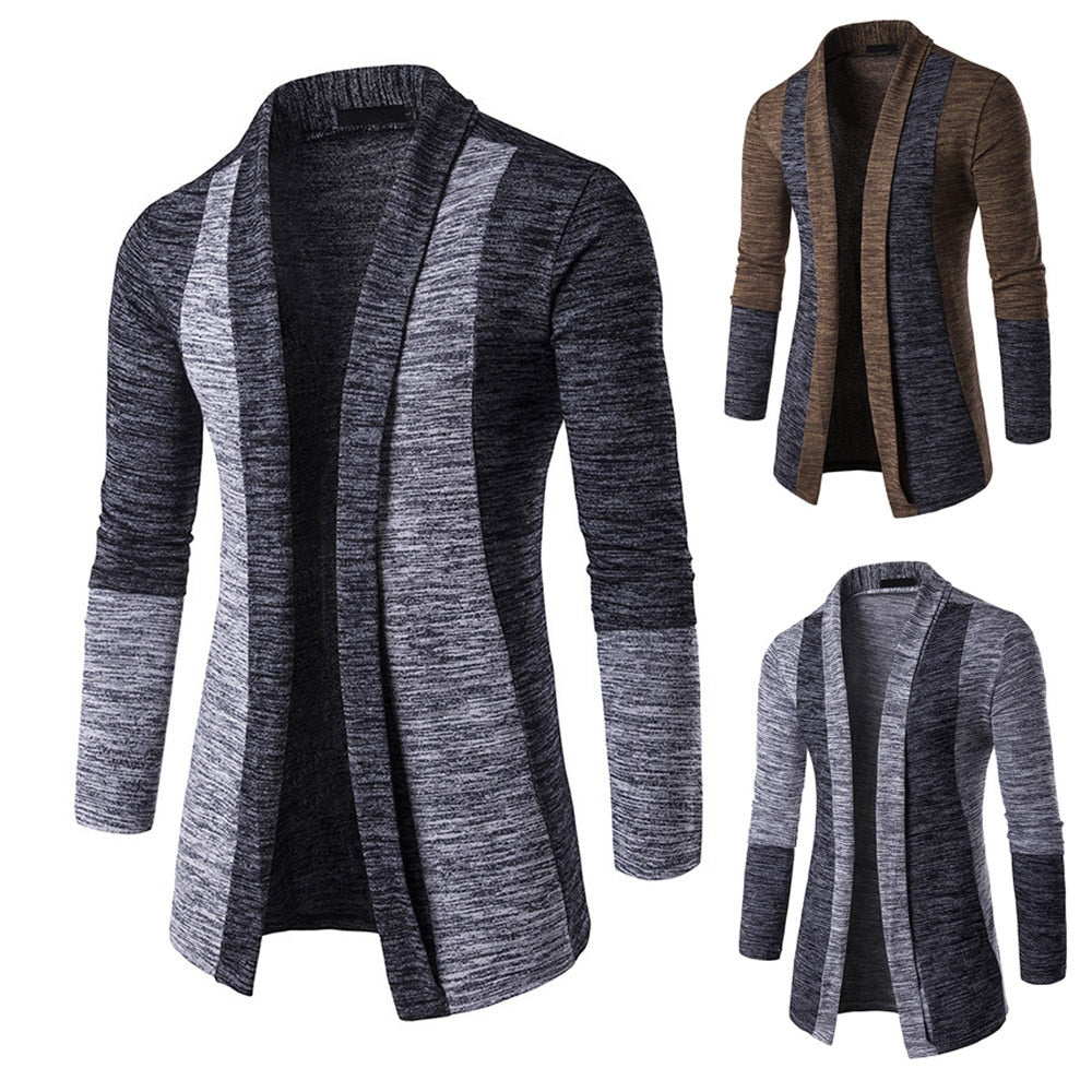 Warm Knit  Fall / Winter long sleeve premium Outerwear / Coat for men - Blindly Shop