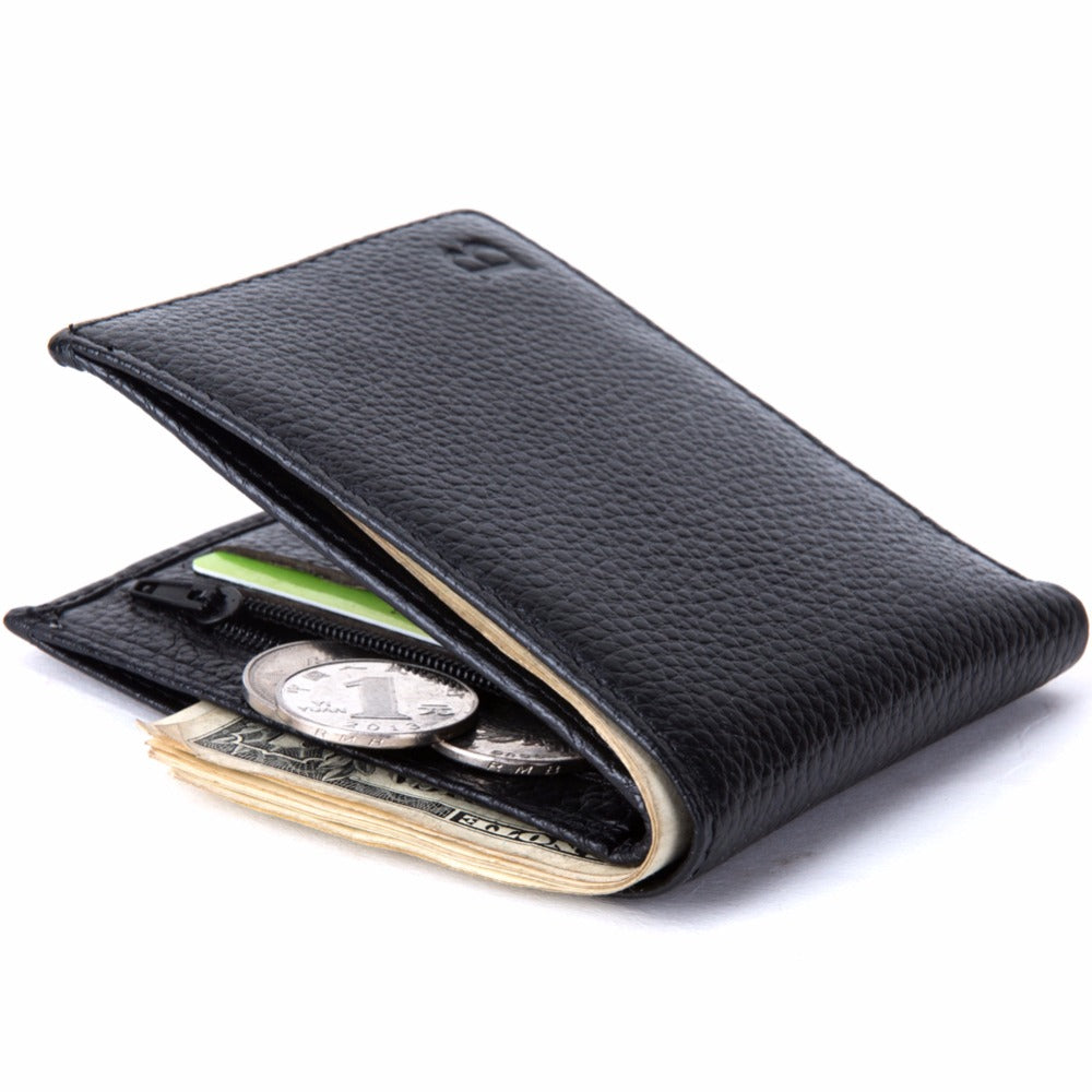 Thin Leather Wallets with coin pocket For Men - Blindly Shop