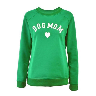 Dog Mom Women's  Fashionable Long Sleeve Casual Sweatshirt - Blindly Shop