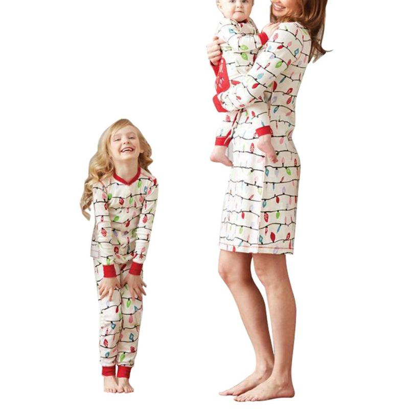 christmas pajamas - family Matching outfits - Baby Kids Mother Dress - Blindly Shop
