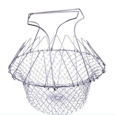 Foldable Stainless steel frying basket- Cook Basket - Blindly Shop
