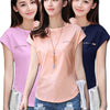 Premium Cotton Short Sleeve Blouse Top for Women - Blindly Shop