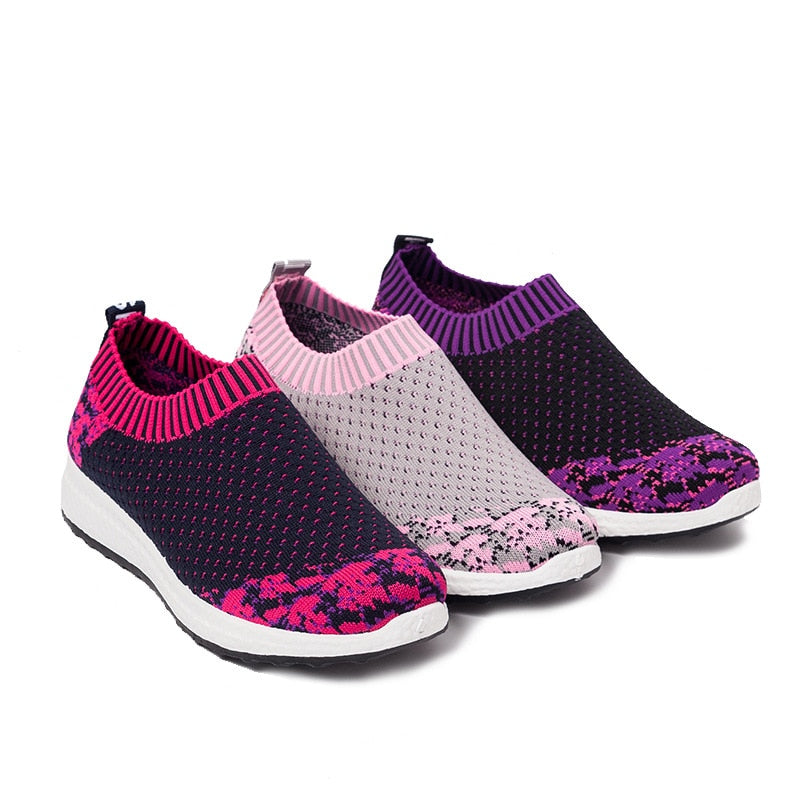 Slip-On Mesh Breathable Sneakers - Women Casual Shoes - Blindly Shop