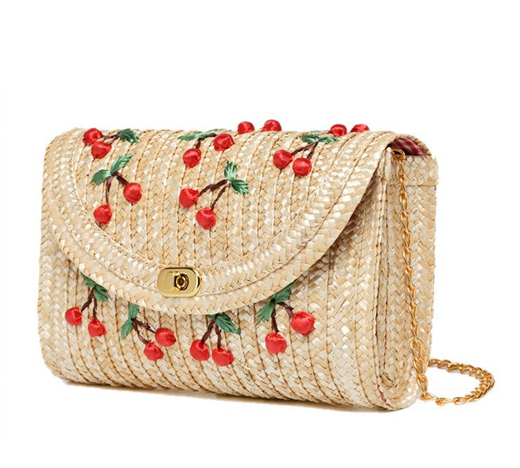 Vacay Is Calling Straw Purse