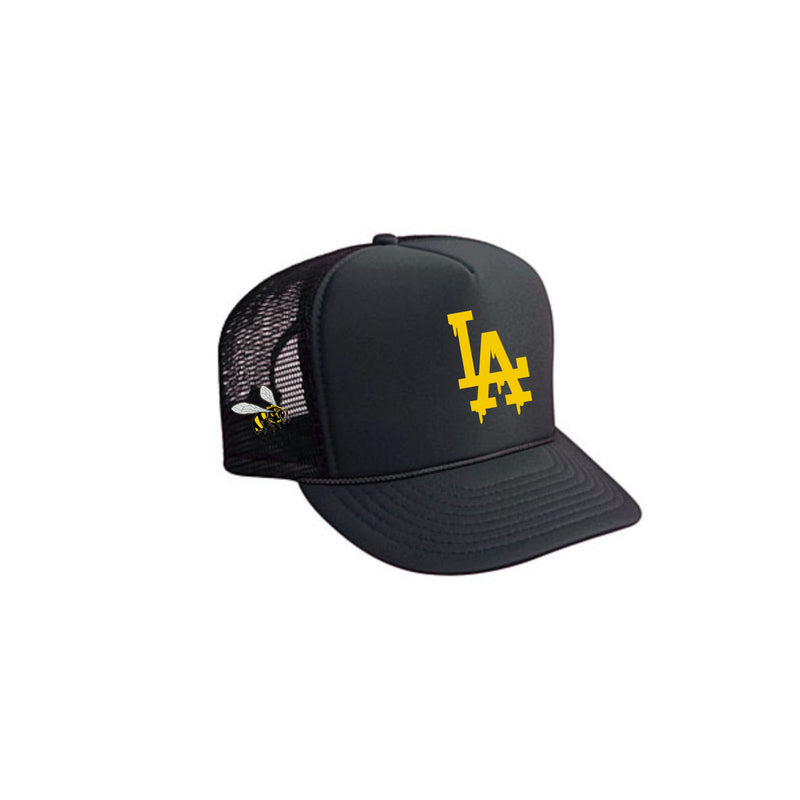 LA DRIPPING HONEY TRUCKER HAT (BLACK)