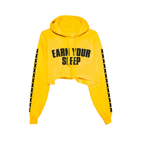 Rouge Cropped Hoodie (yellow)