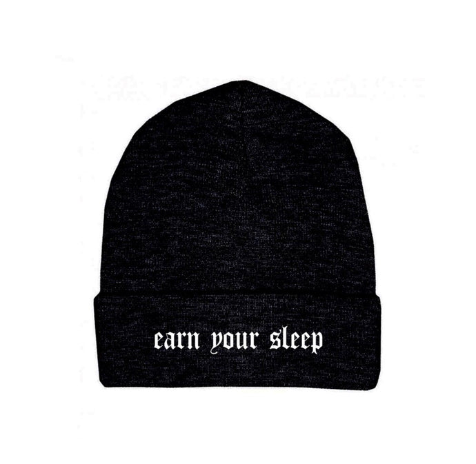 Earn your sleep beanie (black)