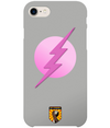Grey & Pink Superhero iPhone 8 Plus Case