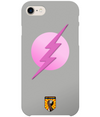 Grey & Pink Superhero iPhone 8 Case