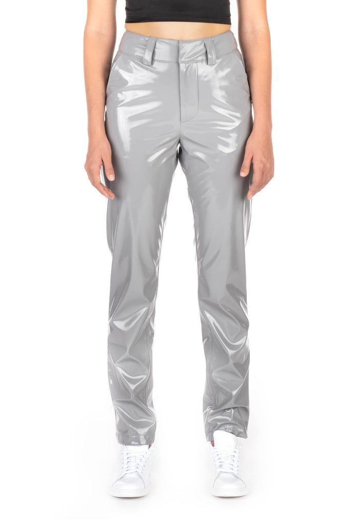 PATENT TROUSERS - Grey