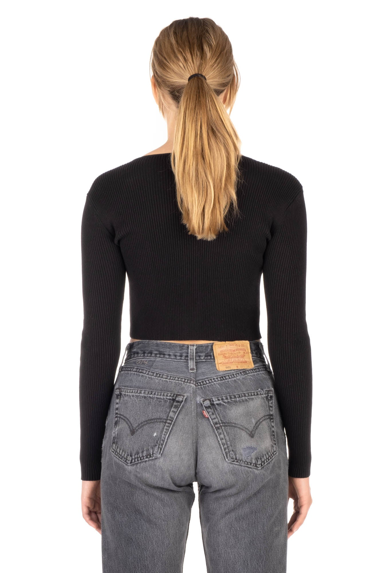 CROPPED CARDIGAN - Black