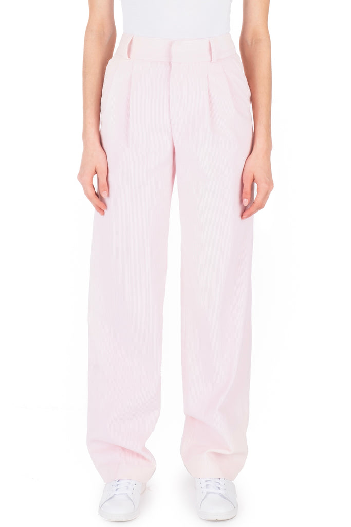 CORDUROY TROUSERS - Baby Pink