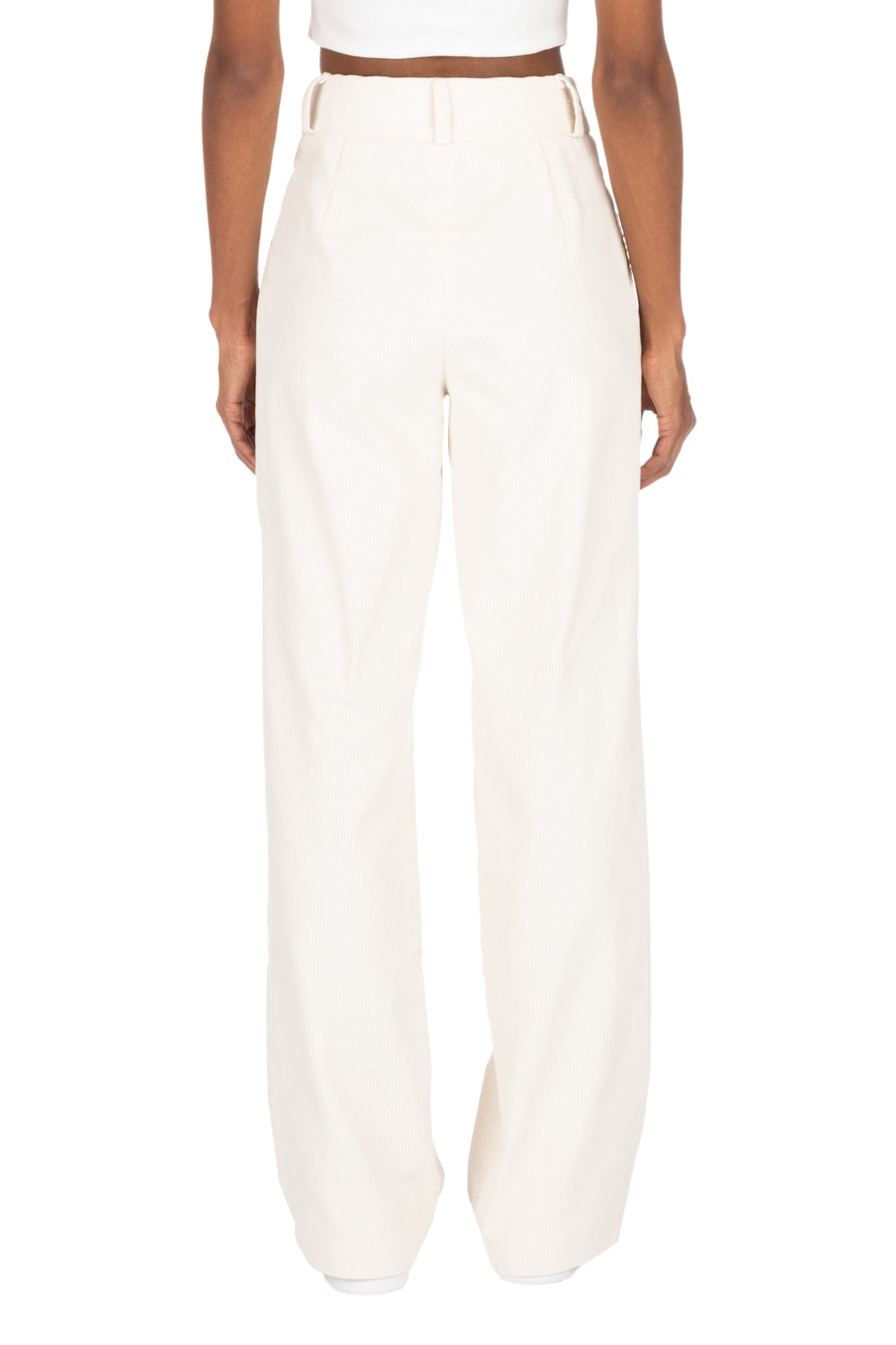 CORDUROY TROUSERS - Cream