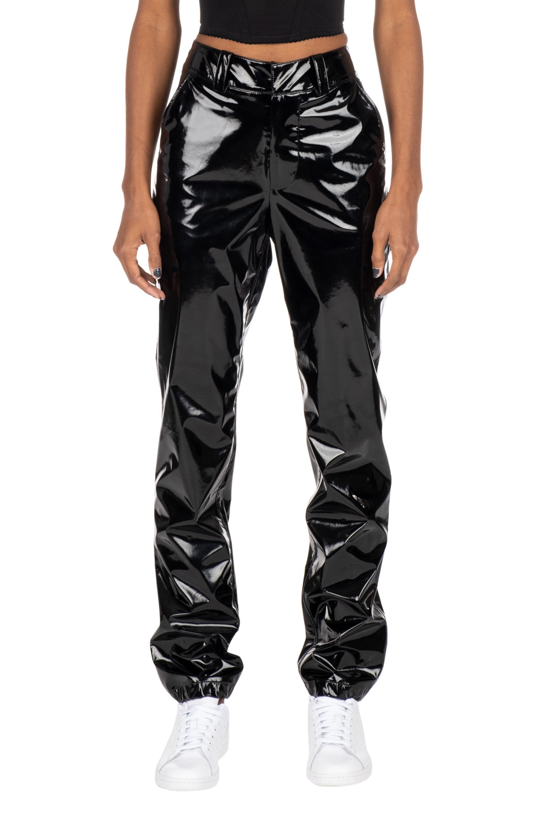 PATENT TROUSERS - Black