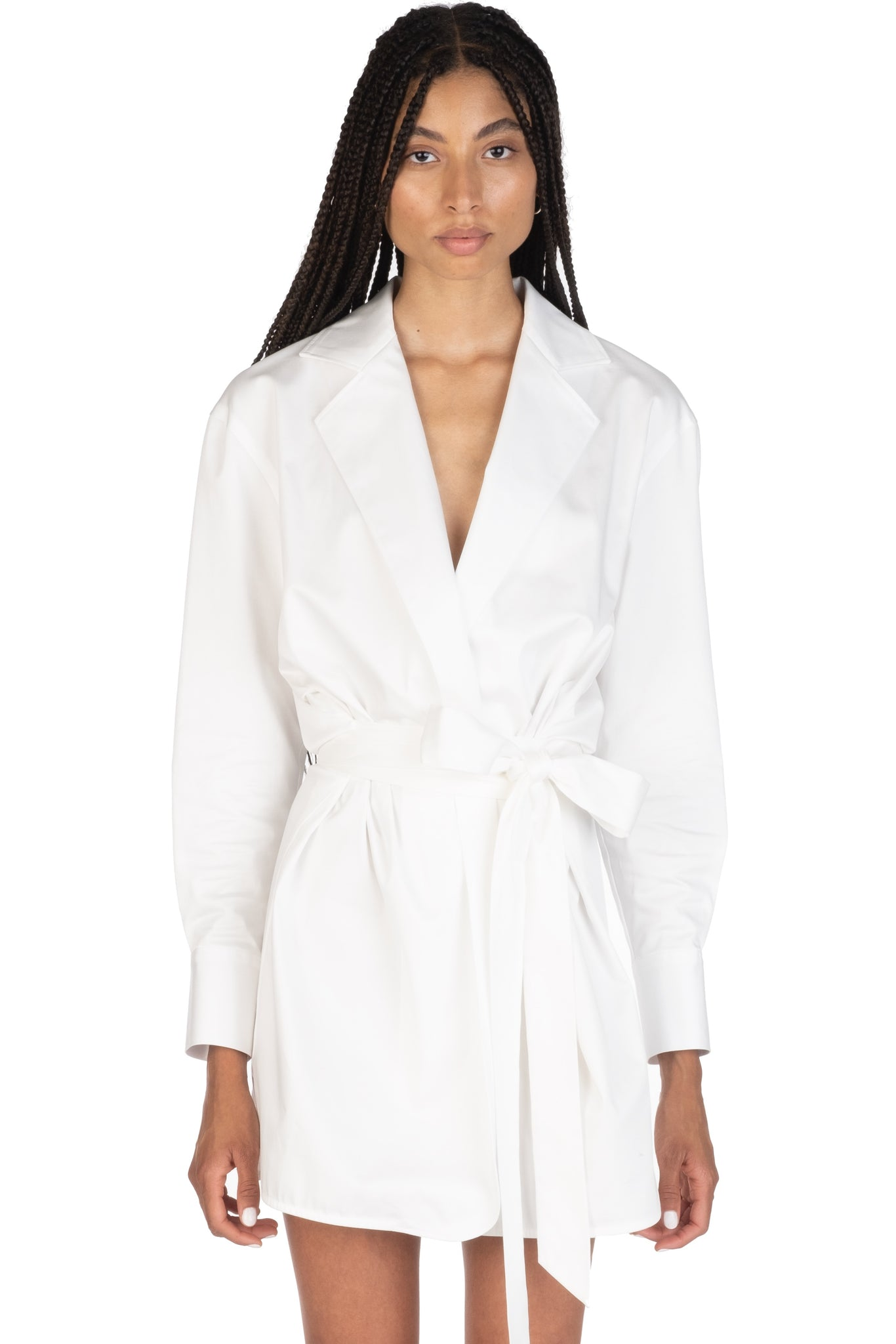 WRAP DRESS - White