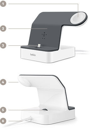Belkin PowerHouse Charge Dock for iWatch & iPhone Key Features
