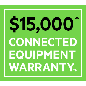 $15,000 Connected Equipment Warranty