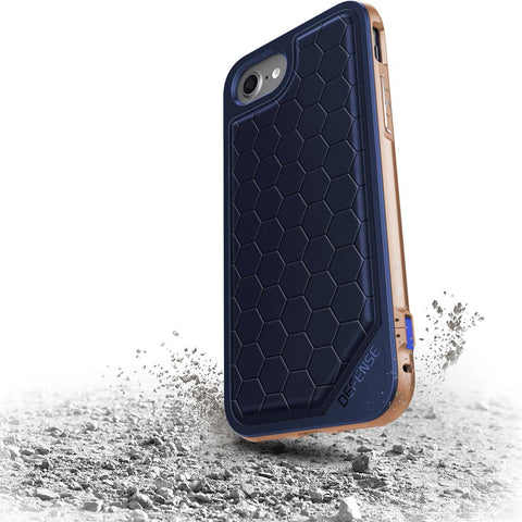 X-Doria Defense Lux for Apple iPhone 7/8 Plus Blue & Gold