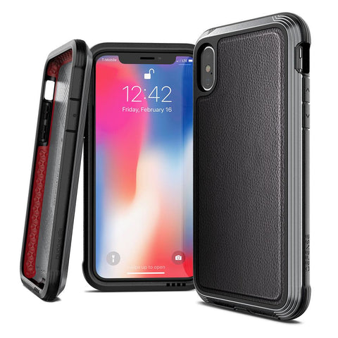 X-Doria Defense Lux DropShield Apple iPhone XS Max Leather Case